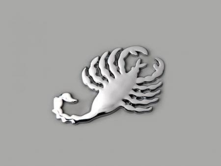 Aufkleber Chrom 3D Autoaufkleber 3D Motiv Scorpion 75x45 mm chrom