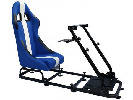 FK Gamesitz Spielsitz Rennsimulator eGaming Seats Interlagos blau/weiß