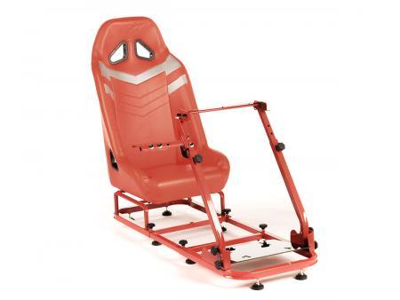 FK Gamesitz Spielsitz Rennsimulator eGaming Seats Monza rot/silber