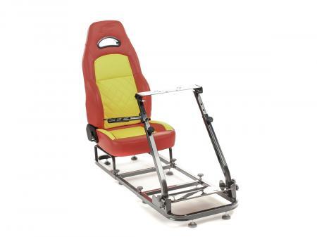 FK Gamesitz Spielsitz Rennsimulator eGaming Seats Silverstone rot/gelb