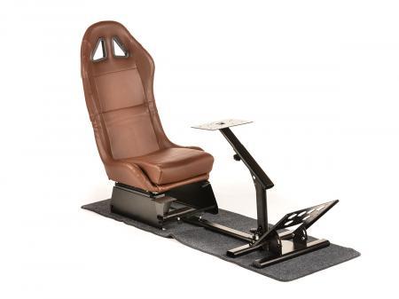 FK Gamesitz Spielsitz Rennsimulator eGaming Seats Suzuka braun mit Teppich