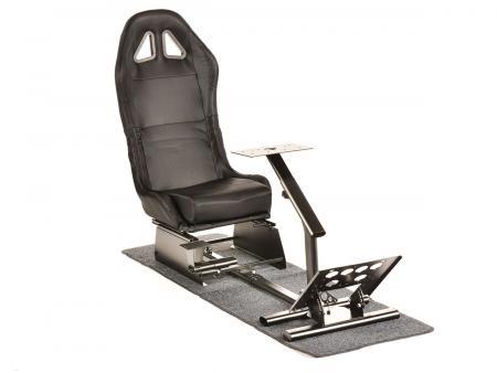 FK Gamesitz Spielsitz Rennsimulator eGaming Seats Suzuka Carbonlook schwarz mit Teppich schwarz