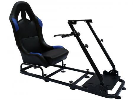 FK Gamesitz Spielsitz Rennsimulator eGaming Seats Monaco schwarz/blau