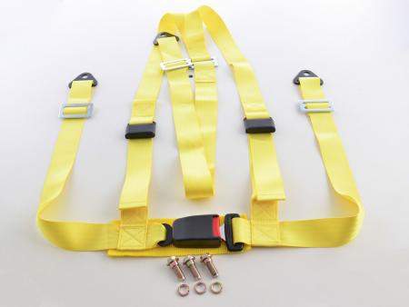 Hosenträgergurt 3-Punkt Gurt Renngurt universal gelb