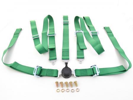 harness 5 point universal belts green