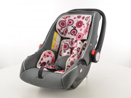FK Kindersitz Auto schwarz/weiß/pink Sicherheitssitz
