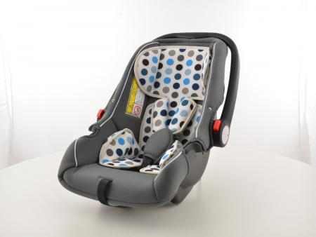 FK Kindersitz Auto schwarz/weiß/blau Sicherheitssitz