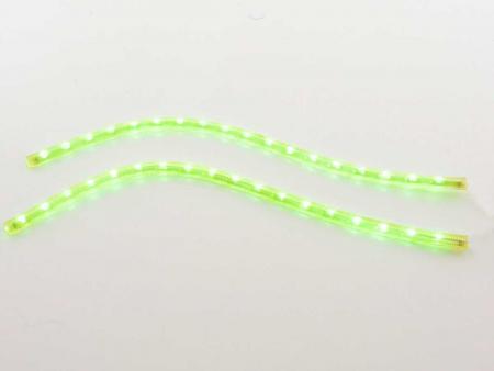 Leuchtstreifen LED flexibel Tagfahrlicht-Design mit 18 LEDs, Länge 370 mm, Kabel 1,5 m, grün