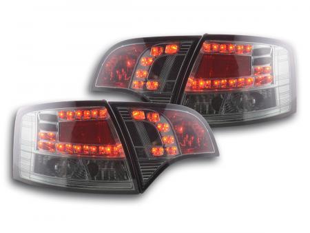LED Rückleuchten Heckleuchten Set Audi A4 Avant Typ 8E 04-08 schwarz