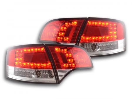 LED Rückleuchten Heckleuchten Set Audi A4 8E B7 Avant  04-08 rot/klar