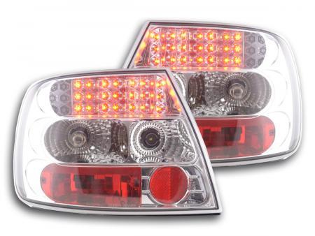 LED Rückleuchten Heckleuchten Set Audi A4 Limousine Typ B5 95-00 chrom