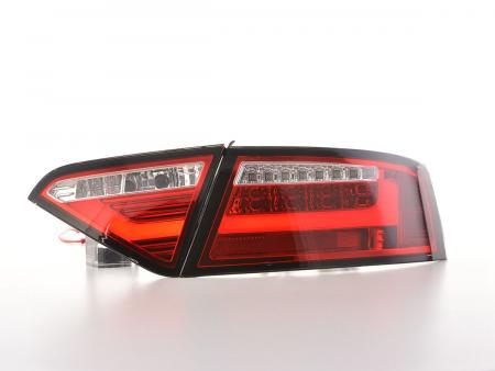 LED Rückleuchten Set Lightbar Audi A5 8T Coupe/Sportback Bj. 07-11 rot/klar