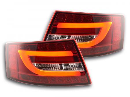 LED Lightbar Rückleuchten Set Audi A6 4F Limo 04-08 rot/klar 6 Pin