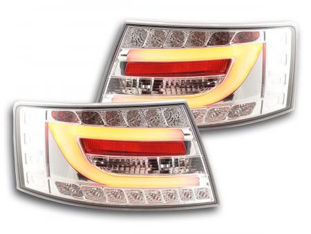 LED Lightbar Rückleuchten Set Audi A6 4F Limo 04-08 chrom 7 Pin