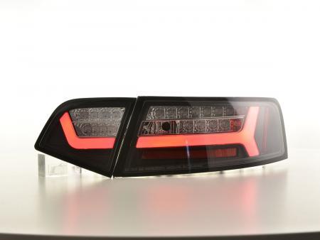 LED Lightbar Rückleuchten Set Audi A6 4F Limo 08-11 schwarz dynamische Blinker