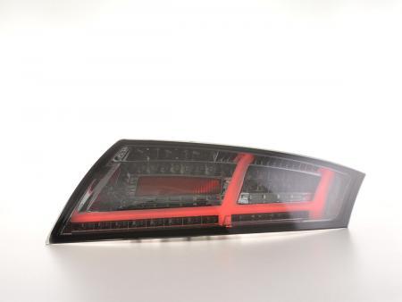 LED Lightbar Rückleuchten Heckleuchten Set Audi TT 8J  06-14 schwarz dynamische Blinker