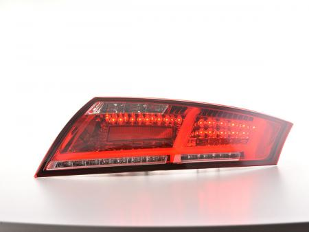 LED rear lights Audi TT 8J Yr. 06-14 red/clear