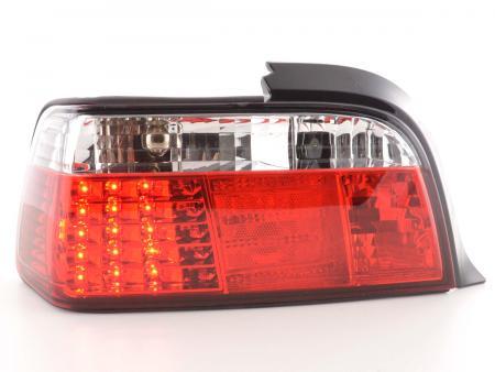 LED Rückleuchten Set BMW 3er Coupe Typ E36 Bj. 91-98 klar/rot