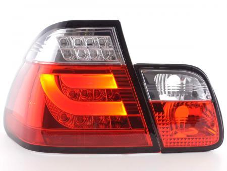 LED Rückleuchten Set Lightbar BMW 3er E46 Limo Bj. 98-01 rot/klar