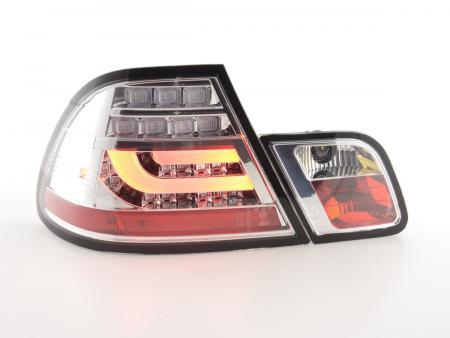 LED Rückleuchten Set BMW 3er E46 Coupe Bj. 99-03 chrom