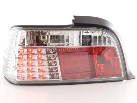 LED Rückleuchten Set BMW 3er Coupe Typ E36 Bj. 91-98 chrom