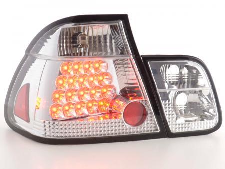 LED Rückleuchten Set BMW 3er Limousine Typ E46 Bj. 01-05 chrom