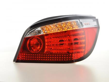 LED Lightbar Rückleuchten Set  BMW 5er E60 Limo Bj. 07-09 rot/klar