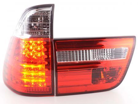 LED Rückleuchten Heckleuchten Set BMW X5 Typ E53 Bj. 98-02 klar/rot