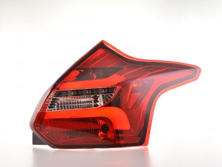 LED Lightbar Rückleuchten Set Ford Focus 3 Schrägheck Bj. 11-14 rot/klar