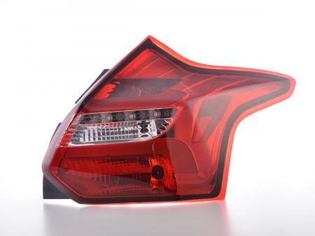 LED Lightbar Rückleuchten Set Ford Focus 3  10-14 rot/klar