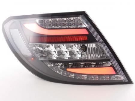 LED Lightbar Rückleuchten Set Mercedes C-Klasse Typ W204 Bj. 07-11 schwarz