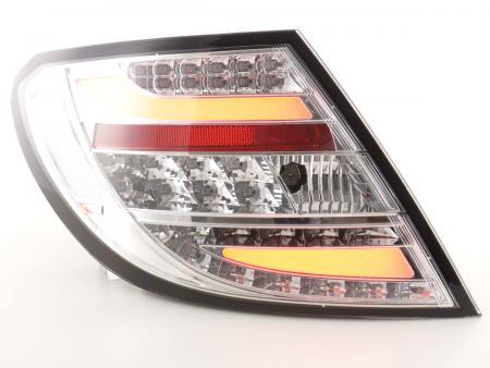 LED Lightbar Rückleuchten Set Mercedes C-Klasse Typ W204 Bj. 2011-2014 chrom