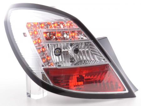 LED Rückleuchten Set Opel Corsa D 5-türig Bj. 06-10 chrom