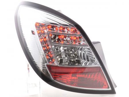 LED Rückleuchten Set Opel Corsa D 5-türig Bj. 06-10 chrom mit LED Blinker
