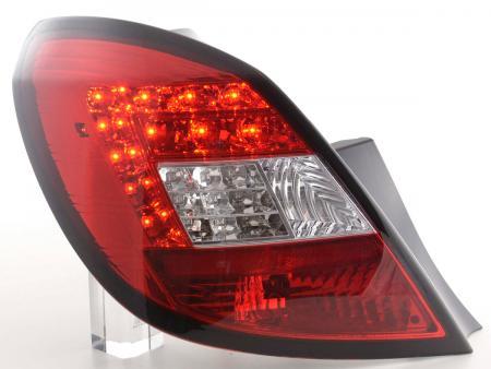 LED Rückleuchten Set Opel Corsa D 5-türig Bj. 06-10 rot/klar mit LED Blinker