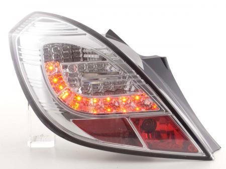 LED Rückleuchten Set Opel Corsa D 3-türig Bj. 06-10 chrom mit LED Blinker