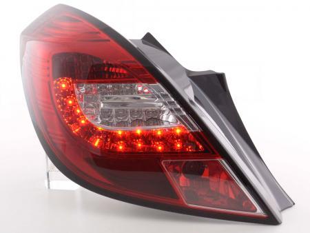 LED Rückleuchten Set Opel Corsa D 3-türig Bj. 06-10 rot/klar mit LED Blinker