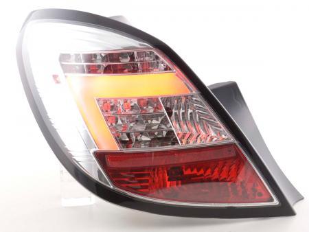 LED Lightbar Rückleuchten Set Opel Corsa D 5-türig Bj. 06-10 chrom LED Blinker