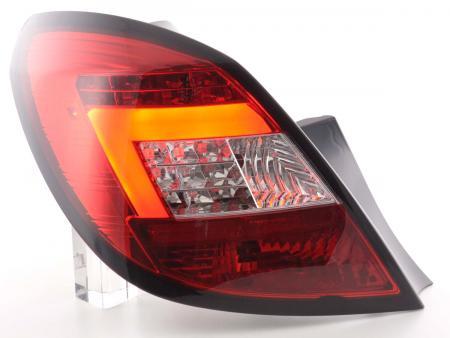 LED Lightbar Rückleuchten Set Opel Corsa D 5-türig 06-10 rot/klar LED Blinker