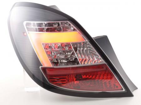 LED Lightbar Rückleuchten Set Opel Corsa D 5-türig 06-10 schwarz LED Blinker
