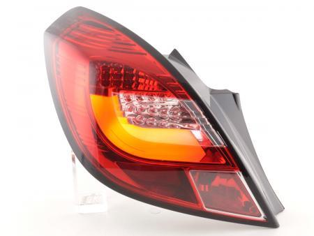 LED Lightbar Rückleuchten Set Opel Corsa D 3-türig 06-10 rot/klar LED Blinker