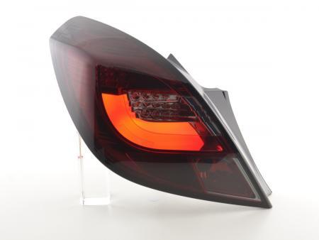 LED Lightbar Rückleuchten Set Opel Corsa D 3-trg. 06-10 rot/smoke LED Blinker