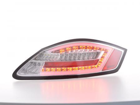 LED Rückleuchten Set Lightbar Porsche Boxster Typ 987 Bj. 04-09 chrom