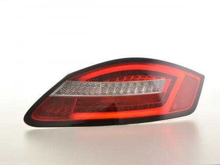 LED Rückleuchten Set Lightbar Porsche Boxster Typ 987 Bj. 04-09 rot/klar