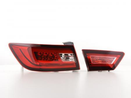 LED Lightbar Rückleuchten Set Renault Clio 4 (X98) Bj. ab 2012 rot/klar