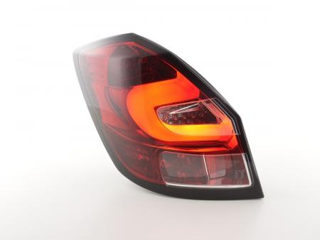 LED Lightbar Rückleuchten Set Skoda Fabia 5J 5-türig Bj. ab 2007 klar/rot