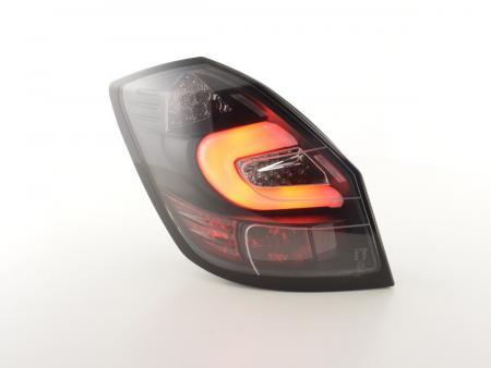 LED Lightbar Rückleuchten Set Skoda Fabia 5J 5-türig Bj. ab 2007 schwarz