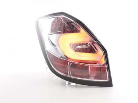 LED Lightbar Rückleuchten Set Skoda Fabia 5J 5-trg. ab 2007 chrom