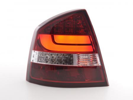 LED Lightbar Rückleuchten Set Skoda Octavia 1Z Limo Bj. 05-12 rot/klar