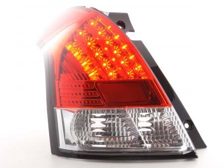 LED Rückleuchten Heckleuchten Set Suzuki Swift MZ 2005 - 2010 klar/rot